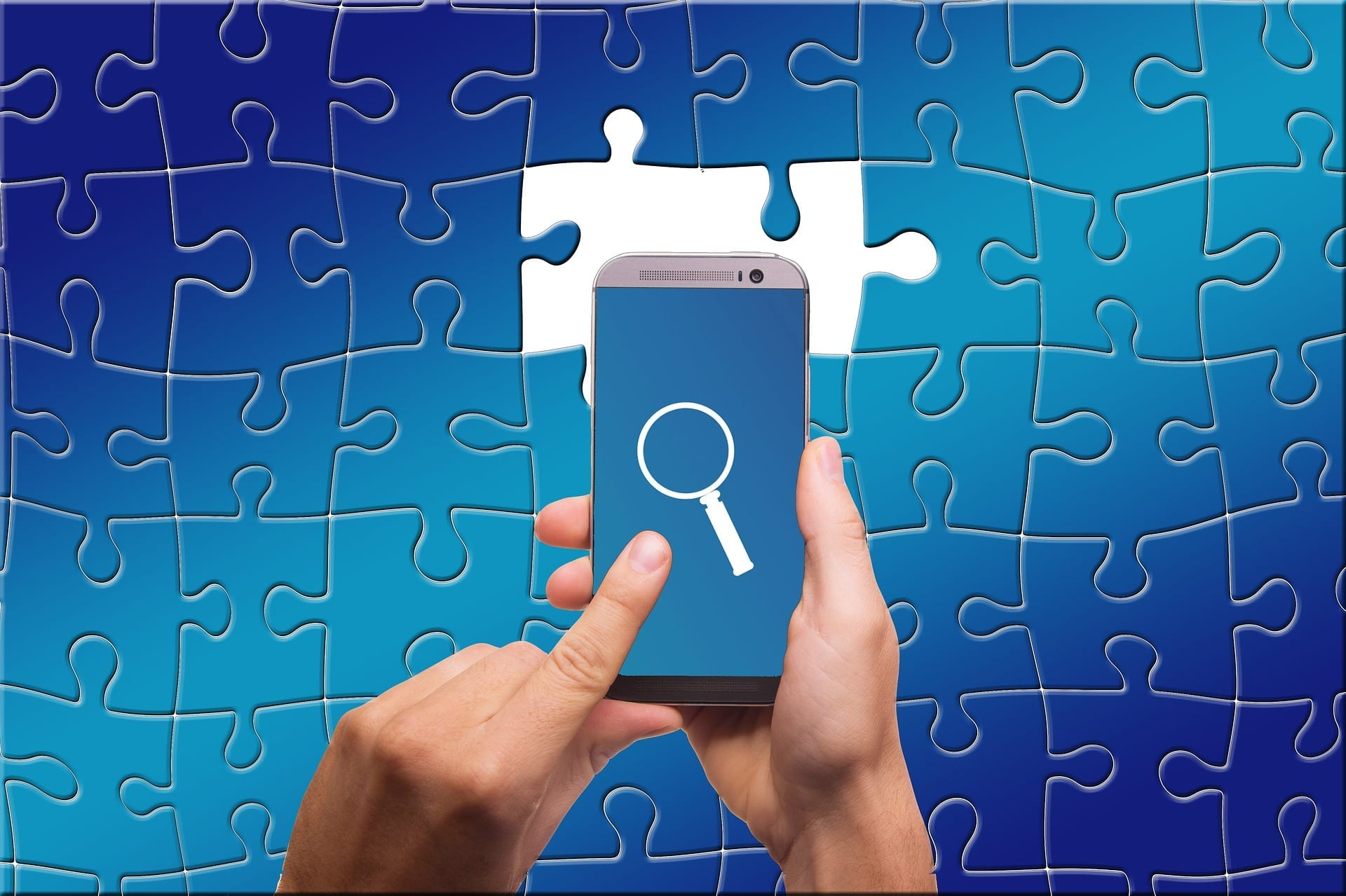 Mobile Emulators represented by phone and missing puzzle pieces